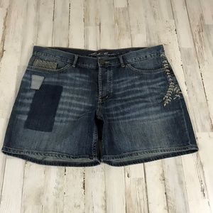 Eddie Bauer Womens Shorts 12 Blue Denim Boyfriend